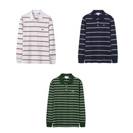 $enCountryForm.capitalKeyWord Australia - 19SS luxurious brand LACOST Striped casual long sleeve Polo shirt men's fashion Simple Business Comfortable T-shirt