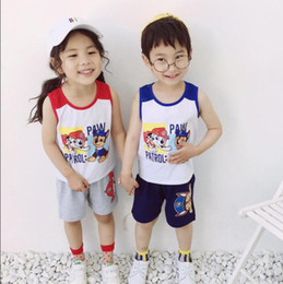 $enCountryForm.capitalKeyWord Australia - hot Children hot style two-piece red yellow and blue kids set super breathable cool vest set