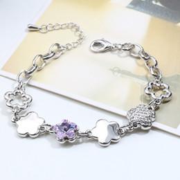 $enCountryForm.capitalKeyWord Australia - High Quality Flower Shape Design Wedding Jwelry Bracelet Made with Swarovski Elements Crystal For Women Party Bijoux Accessories Gift