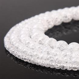 $enCountryForm.capitalKeyWord Australia - Natural Crystal Ice cracked beads White Clear Quartz Popcorn Beads for DIY Bracelet Handmade Jewelry Making Accessories
