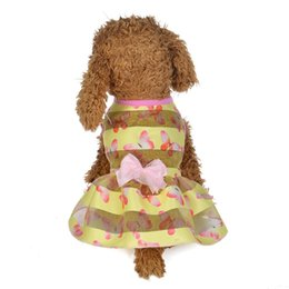 small teddy clothes UK - Small Clothes Pet Dog Cat Puppy Sleevless Floral Dress Skirt for Teddy Apparel