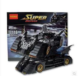 Black Blocks Australia - 7116 The Avengers puzzle assembled building block gift Batman Thunderbolt Chariot
