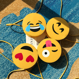 $enCountryForm.capitalKeyWord Canada - 11 Styles Emoji PU Purses Cute QQ Expression Small Round Bags Cartoon Smiling Face Oblique Span Bag Girls Creative Gifts