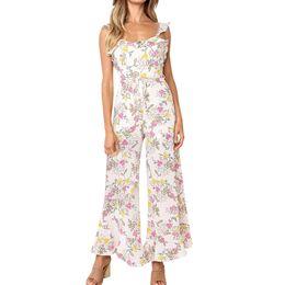 $enCountryForm.capitalKeyWord UK - wholesale Women Bohemian Plus Size Jumpsuit Casual Print Harem Loose Trousers Jumpsuit Elegant Slim Wide Pants Jumpsuit Ja25