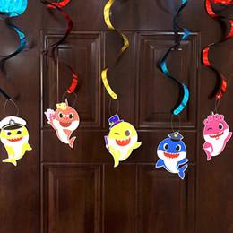 $enCountryForm.capitalKeyWord Australia - Cartoon Baby Shark Spiral Pendant Decorative Props For Children Birthday Party Favors Supplies Hot Sale 5pcs Per Pack 4cx E1