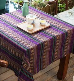 vintage cotton tablecloths Australia - Ethnic fabric cotton and linen yunnan lijiang style tablecloth vintage linen Bohemian fabric sofa fabric