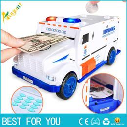 Car Safe Boxes Australia - Digital Piggy Bank Kids Toy Money Box Saving Deposit Boxes Electronic Tirelire Enfant Children Cash Car Coin Safe Truck