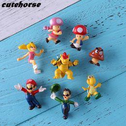 $enCountryForm.capitalKeyWord Australia - Creative Cartoon Super Mario Decoration Fridge Magnet Stickers 8 Pieces   Set 3d Fridge Magnet Stickers Y19061901