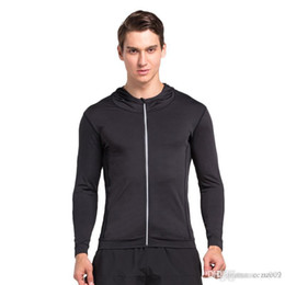 Wholesale Autumn and winter outdoor sports men long-sleeved cardigan fast dry tight compression sports training clothess