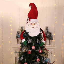 $enCountryForm.capitalKeyWord Australia - Cute Christmas Decorations Christmas Tree Top Santa Claus Snowman Hat Tree Hanging Ornaments Top decorations for home hot F96