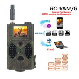 hunt cameras gsm NZ - HC300M HC300A Hunting Camera HD Digital IR Infrared Trail Camera Chasse Scouting Night Video GPRS GSM 12MP Hunters