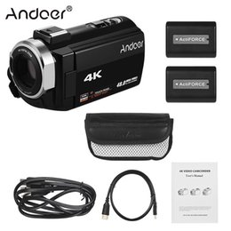 """Discount night vision flash - Andoer Portable 4K HD Digital Video Camera Camcorder DV 3"""" WiFi Connection IR Night Vision Hot Shoe Mount with 2pcs"""