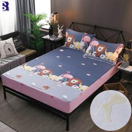 $enCountryForm.capitalKeyWord NZ - SunnyRain 3-Piece Cartoon Waterproof Fitted Sheet Set Cotton Bedsheet For Kids Bed Sheet Mattress Protector Pocket Depth 30cm