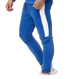 Striped Pencil Pants Australia - New Spring Mens Designer Joggers Fashion Colors Bright Striped Pockets Elastic Waist Pants Pencil Pants