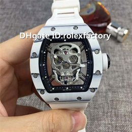 $enCountryForm.capitalKeyWord Canada - New Luxury 52-01 Men Watch Automatic Sapphire Crystal NTPT Carbon Fiber Case Skeleton Dial White Rubber Strap transparent case back Watches