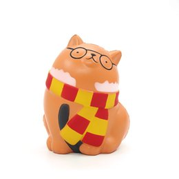 $enCountryForm.capitalKeyWord UK - 2019 Hottest Squishies Glasses Cat Decompression toy Slow Rebound Cat Glasses Cell phone straps Slow Rebound Cartoon Animal DHL Free
