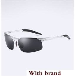 Pilots night glasses online shopping - Night Vision yellow Glasses Polarized Sunglasses Men Rectangle Metal Frame Rimless Sun Glasses Driving Male Oculos