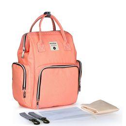 Backpack Stroller UK - Baby Diaper Bags Mommy Bag Large Capacity Travel Backpack Waterproof Nursing Bag for Baby Care Stroller with Wet Bag