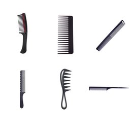 $enCountryForm.capitalKeyWord Australia - Professional Hair Comb Hard Carbon Flat Head Antistatic Hair Comb Flat Head Anti-static Cutting Combs For Salon Styling Tool