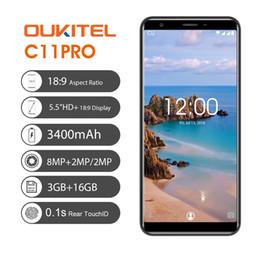 Google Touch Screen Australia - 3GB 16GB OUKITEL C11 Pro 4G LTE 64-Bit Quad Core MTK6739 Android 8.1 5.5 inch 18:9 Full Screen 1440*720 HD+ Fingerprint 3400mAh Smartphone
