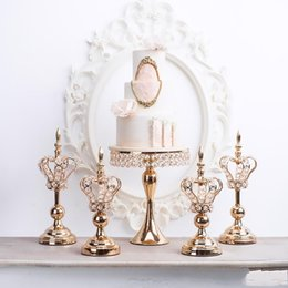 $enCountryForm.capitalKeyWord UK - home crafts ornament Wedding Candlestick Lace Crown Candle Holder Dessert table centerpieces Decoration tall cake stand cake decorating too