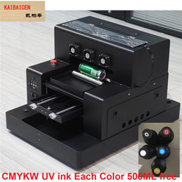 Printers A3 NZ - Automatic A3 UV Flat and Cylinder Inkjet Printer 3D emboss effect plastic TPU ABS Acylic Metal bottle and Case With UV INK Free