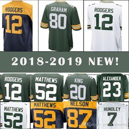 Green Bays Packer football jerseys 12 Aaron Rodgers 80 Jimmy Graham 20 Kevin  King Men s jerseys top quality 5a97f2429