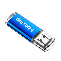 usb flash pens NZ - J-boxing Blue Rectangle 32GB USB Flash Drive Enough Memory Sticks 32gb usb 2.0 Flash Pen Drive for PC Laptop Macbook Tablet Thumb Storage