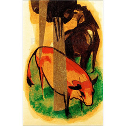 $enCountryForm.capitalKeyWord UK - Handmade canvas art Franz Marc Black Brown Horse and Yellow Cow beautiful Oil painting for wall decor