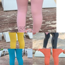 tight ankle length dresses Australia - Girls leggings 2020 summer dress Western Tight sports style children's sports pants cartoon printed baby ankle-length pants