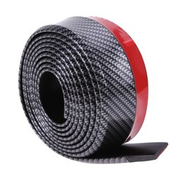Carbon Fiber Lips Australia - VODOOL 60mm Width 2.5m length Soft Carbon Fiber Car Rubber Bumper Strip Outside Bumper Front Lip Car Bumper Strip Car Styling