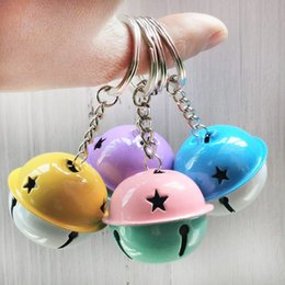 cellphone keys Australia - Creative Alloy Colorful Bell Keychain Mobile Cellphone Women Bag Pendent Creviate Bell Key Ring Holder Wholesale Price