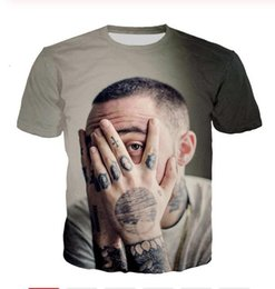 Discount new fashion men shirt star printed New Fashion Mens Womans Star Mac Miller T-Shirt Summer Style Funny Unisex 3D Print Casual T-Shirt Tops Plus Size DXR032