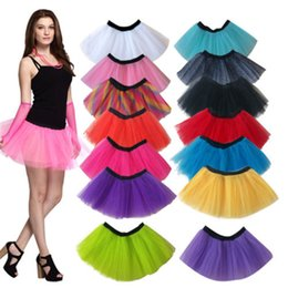 tutus cheap wholesale Australia - Retail Sale Cheap Women Neon UV Flo Tutu Tulle Hem Fancy Party 3 Layers of Net Plus Colours Skirt
