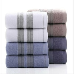 $enCountryForm.capitalKeyWord Australia - 100% Cotton Solid Bath Towel Beach Towel For Adults Fast Drying Soft 17 Colors Thick High Absorbent Antibacterial