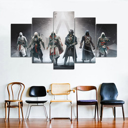 $enCountryForm.capitalKeyWord NZ - Assassin of Creed Origins Super Hero 5 Pieces HD Canvas Posters Prints Wall Art Painting Pictures For Living Room Modern Home Decoration