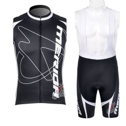 merida cycling jersey sets Canada - MERIDA fashion popular summer style Cycling Sleeveless jersey Vest bib shorts Breathable sets Outdoor Sports suits 61132