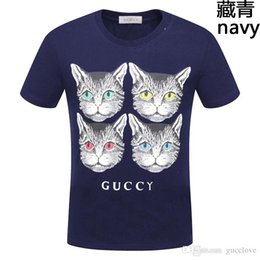 Kitten Shirts Australia - 2019 hot men and women models round neck summer four kittens pattern printing trend personality net red with couple short-sleeved T-shirt