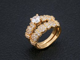 Festival jewelry online shopping - New Fashion Big Cz Gold Color Luxury Wedding Rings For Women Party Club Luxury Personalized Rings Jewelry Festival Gifts