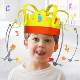 Wholesale gift snacks online shopping - Chow Crown Game Musical Spinning Crown Snacks Food Party Toy Child funny Family Top Gift decompression Toys Novelty Items GGA1397