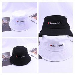 d761a200cf5e2a Letters Print Champions Bucket Hat Casual Fisherman Hats Summer Outdoor  Beach Flat Wide Visor Bowler Hip Hop Caps for Men and Women C41105