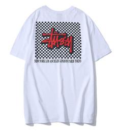 camisetas de diseñador para hombre Stussy Stuart, hombres y mujeres, camiseta de manga corta, camiseta clásica de los amantes de la marca de la marea del algodón Descuento de la nueva tienda en venta