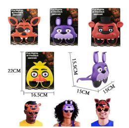$enCountryForm.capitalKeyWord Australia - 4pcs  Set Five Nights At Freddy 'S Mask Glasses Figure Fnaf Freddy Foxy Bonnie Chica Figure Toys Party Supplies Kids Toys