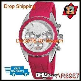 Wrist Watch Japan Movement Australia - 100% ORIGINAL JAPAN MOVEMENT DROP SHIPPING New Ladies Rubber Chronograph Dial Quartz Wrist Watch AR5937 AR5938 AR5939