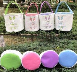 $enCountryForm.capitalKeyWord Australia - Easter Basket Canvas Easter Rabbit Baskets Bunny Ears Buckets Rabbit Tail Pail Latest Easter Eggs Hunt Bag 4 Colors
