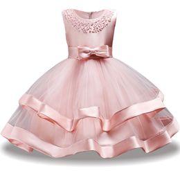 Costume Ball Australia - Baby Girls Dress Summer Princess Elegant Toddler Dress Kids Wedding Ball Gown Costume Infant Party Dresses Children Clothes Y19061801