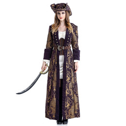d39755a57bee Women's Deluxe Pirate Costume Halloween Carnival Party Fantasia Fancy Dress  with Pirate Hat Cosplay Sexy Costumes For Adults