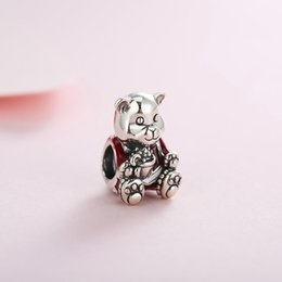 $enCountryForm.capitalKeyWord Australia - Winter Authentic Real 925 Sterling Silver Christmas Bear Bead Charms Fit Pandora Bracelet