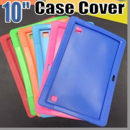 "tablet a83t Canada - 818 Cheapest 50pcs Anti Dust Kids Child Soft Silicone Rubber Gel Case Cover For 10"" 10.1 Inch A83T A33 A31S Android Tablet pc MID Free DHL"