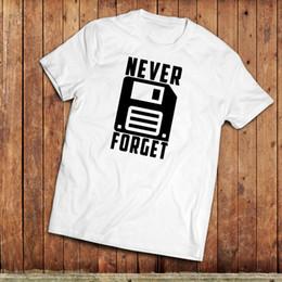 $enCountryForm.capitalKeyWord Australia - Never Forget T-Shirt, retro computing hard disk nostalgia. Geek or Nerd Tee Size Discout Hot New Tshirt Hoodie Hip Hop T-shirt